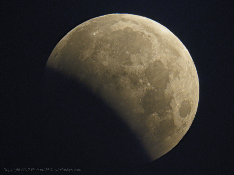 Lunar Eclipse - 06/04/2012, 5:03 AM. Copyright 2012 Richard McCoy
