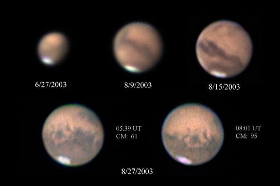 Mars images from 06/27/2003 - 08/27/2003.