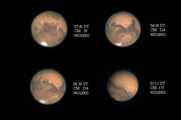 Mars images from 09/03/2003 - 09/23/2003.