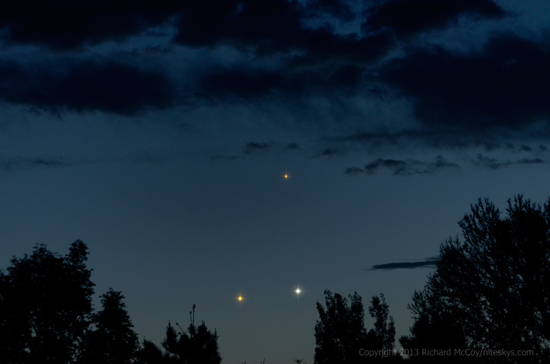 Venus, Jupiter and Mercury<br />May 27, 2013