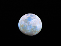 Image of the Moon showing hidden coloration.