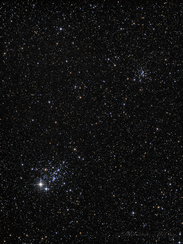 NGC457 and NGC436 - Open Clusters in Cassiopeia