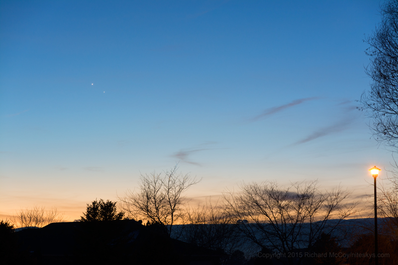 Venus and Mercury - January 10, 2015