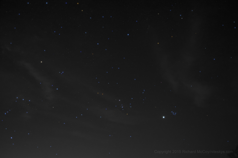 Venus and Pleiades - April 11, 2015