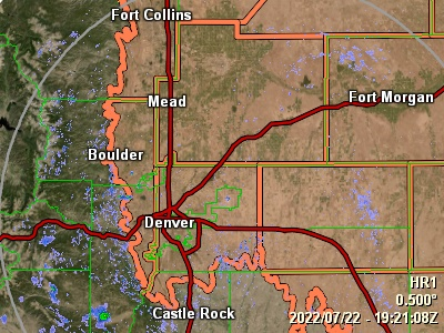 Click here to view Local Radar information centered on Mead, CO.